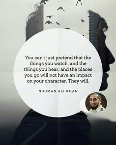 Inspirational Quotes & Sayings By Nouman Ali Khan. Nouman Ali Khan is an American Muslim who has contributed a lot to the Muslim society by awakening the youth through his speeches and lectures. Islamic Quotes, Islamic Teachings, Islamic Inspirational Quotes, Muslim Quotes, Quran Quotes, Religious Quotes, Faith Quotes, Wisdom Quotes, Me Quotes