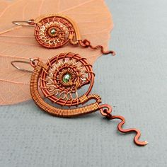 Plaváček - copper earrings