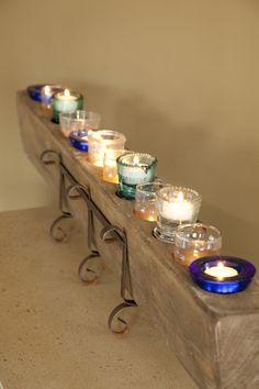 Antique sugar mold turned candelabra*