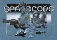 Space Cops by Travis Charest. Just love this idea. Comic Book Artists, Comic Artist, Comic Books, Travis Charest, Illustration Techniques, Book Illustration, Illustrations, Art Studies, Sci Fi Art