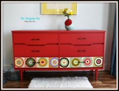 ReDesign. ReStyle. RePeat.: Mid Century Modern Dresser in Coral Red