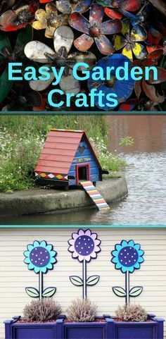 Need some inspiration for garden crafts? Here are some easy ones to get you started.