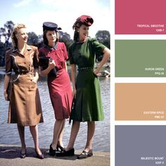 1943   16 Beautiful Color Palettes Inspired By Retro Fashion