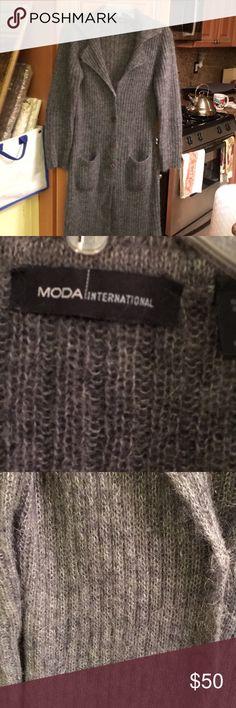 Moda International sweater coat Pristine condition Moda International Jackets & Coats