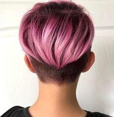 Short Purple Hairstyles 2017