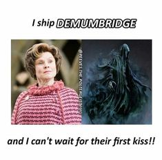 It makes sense because they are both evil. And when Dementor kiss her we all know what's happening! Harry Potter Jokes, Harry Potter Theme, Harry Potter Fandom, Harry Potter World, Ravenclaw, Nos4a2, Fandoms, Mischief Managed, Film Serie