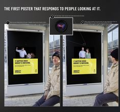 "Great use of eye tracking camera to highlight the secrecy of domestic violence: ""It happens when nobody is watching."""