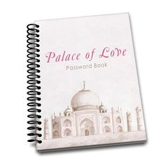 Password Book | Palace of Love  | Premium Password Logbook | Online Organizer | Protect Sensitive Information | 5 x 8 Inches | Spiral Bound