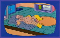 """Newsman: """"Simpson scandal update: Homer sleeps nude in an oxygen tent, which he believes gives him sexual powers."""" Homer: """"Hey, that's a half-truth! Simpsons Episodes, The Simpsons, Simpson Wave, Cartoon Profile Pictures, Profile Pics, Santa's Little Helper, Pop Up Tent, Futurama, Vintage Comics"""