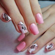 Cow Nails, Cat Eye Nails, Pink Nails, Ombre Nail Designs, Nail Art Designs, Gorgeous Nails, Pretty Nails, Flamingo Nails, Beauty Hacks Nails