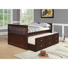 Donco Kids Mission Captains Trundle Full-size Bed | Overstock.com Shopping - Great Deals on Donco Kids Kids' Beds