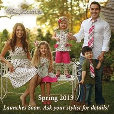 Today's sneak peek is another from our Fantasy Garden collection! This line has something for the WHOLE FAMILY!! Doesn't this look like the perfect Easter family photo? Our Spring collection launches soon! Talk to me about hosting a Trunk Show online! As a hostess, you'll get free and half off outfits of your choice! You provide the guest list and I'll do the rest!! www.facebook.com/VintageCoutureTiffany