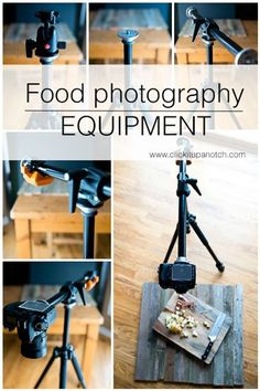 [Photo Tips] Food Photography Equipment via Photography Lessons, Food Photography Styling, Photography Gear, Photography Equipment, Photography Business, Light Photography, Photography Tutorials, Digital Photography, Food Styling
