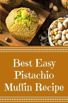 Delicious pistachio muffin recipe is loaded with nutritious pistachio nuts. Quick, easy, and moist pistachio muffins are a great breakfast or brunch treat. Perfect for the beginning baker. Pistachio Muffins, Pistachio Recipes, Pistachio Pudding, Nut Recipes, Muffin Recipes, Cooking Recipes, Dessert Recipes, Sundae Toppings, Cranberry Orange Muffins