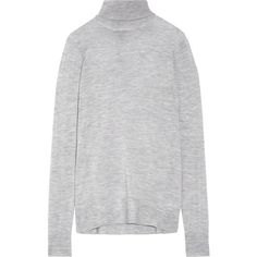J.Crew Cashmere turtleneck sweater (386 AUD) ❤ liked on Polyvore featuring tops, sweaters, grey, crewneck sweaters, grey cashmere sweater, turtleneck shirt, crew neck shirt and gray turtleneck sweater