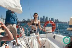 Żeglowanie po Port Jackson z panoramą #sydney w tle.  #travel #podróże #australia