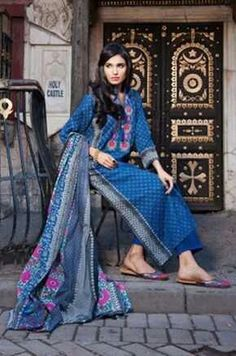 Khaadi unstitched lawnspring/summer collection2014 is in stores now.
