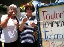 Suzanne from Garland, Texas and Donna from Murphy, Texas spent all their shopping money. They decided to finish their shopping day on the cool side with homemade ice cream. Yum!