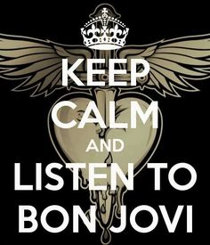 Keep Calm & Listen to Bon Jovi Always a mood lifter! Great Bands, Cool Bands, Music Lyrics, My Music, Rock Music, My Favorite Music, My Favorite Things, Bon Jovi Always, Love Of My Life
