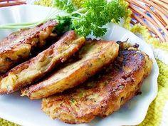 Žampionovo-cuketové lívanečky s nivou Low Carb Recipes, Zucchini, French Toast, Pork, Food And Drink, Favorite Recipes, Snacks, Meals, Cooking