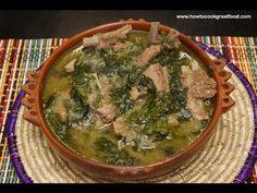 ▶ Ethiopian Food - Lamb & Spinach recipe Gomen be Sega - Injera Berbere Tibs Wot Kitfo - YouTube