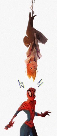 SpiderGwen, SpiderGwen, does whatever a SpiderGwen does by vincentsillustration Deadpool Y Spiderman, Spiderman Art, Gwen Stacy, Spider Gwen, Amazing Spiderman, Mundo Comic, Marvel Cosplay, Spider Verse, Marvel Art