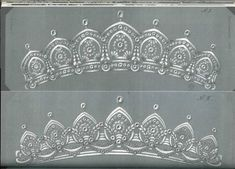a couple of lovely designs for tiaras by Kochert
