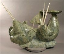 Northern Images Online Art Gallery offers a large selection of high quality authentic Inuit, Aboriginal and Dene works of Art from Canada's Arctic. Narwhals, Jaco, Aboriginal Art, Online Art Gallery, Sculptures, Arts And Crafts, Christmas Ornaments, Holiday Decor, Stuff To Buy