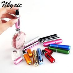 """Universe of goods - Buy Mini Refillable Empty Atomizer Perfume Bottle Scent Pump Spray Case Travel Parfum Cosmetic Containers Airless Pump"""" for only USD. Refillable Perfume Bottle, Perfume Atomizer, Perfume Bottles, Perfume Parfum, Perfume Glamour, Perfume Hermes, Gel Eyeliner, Eyeshadow, Maquillage Halloween Simple"""