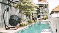 """""""Tucked away in a corner in Double Six Seminyak, Lloyd's Inn Bali isa hidden oasis of architecture and nature."""" The hotel's very stylish, modern and clean. The Beach, Samar, Wells, Oasis, Branding, Lifestyle, Architecture, Outdoor Decor, Modern"""