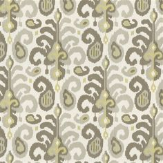 Taupe Linen Ikat