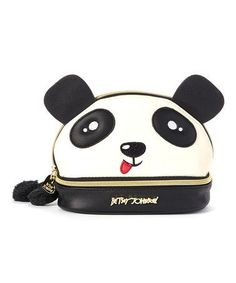 Another great find on Bone & Black Panda Kitsch Cosmetic Case by Betsey Johnson Panda's Dream, Panda Love, Makeup Case, Sweet Style, Cosmetic Case, Kitsch, Betsey Johnson, Bones, Purses And Bags