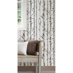 Birch Tree Peel And Stick Wallpaper - cut some of this down to standard large frame size and hang in the stairwell.