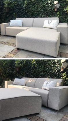 Outdoor Furniture Sofa, Outdoor Garden Furniture, Outdoor Decor, Outdoor Sofa, Unique Garden, Easy Garden, Backyard Renovations, Garden Yard Ideas, Exterior
