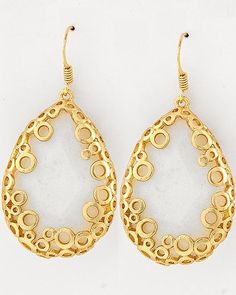 16K Gold Coterie Moonstone Earrings on Emma Stine Limited VIP $47