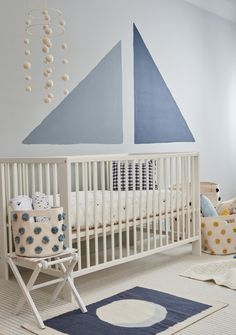 A nautical nursery, done the way. Meet our new Sailor print and all the pieces that *pehr* beautifully with it!