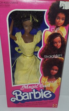 VINTAGE 1981 Magic Curl African American/Black Barbie Doll 3989 STEFFIE FACE NEW #Mattel #DollswithClothingAccessories