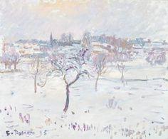 Camille Pissarro (Fr., 1830-1903), Paysage de neige à Eragny avec un pommier, 1895, huile sur toile, 38,2 x 46,2 cm