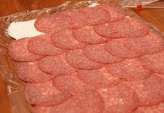 My favorite late night indulgence is salami and cream cheese on crackers. Salty cured sausage, sweet creamy cheese, crisp buttery c. Healthy Appetizers, Appetizers For Party, Appetizer Recipes, Holiday Snacks, Christmas Desserts, Broccoli Patties, Cream Cheese Roll Up, Roll Ups Recipes, Cheese Rolling