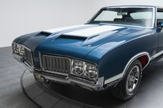 1970 Oldsmobile 442 W-30 Blue For Sale