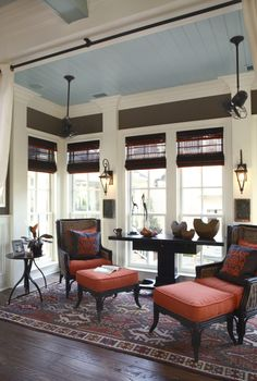 Mitch Ginn Design - 2006 Southern Living Idea House Sunroom  www.mitchginn.com