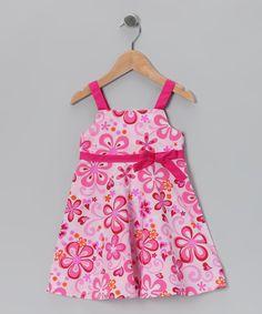 Loving this Pink Floral A-Line Dress - Toddler & Girls on #zulily! #zulilyfinds