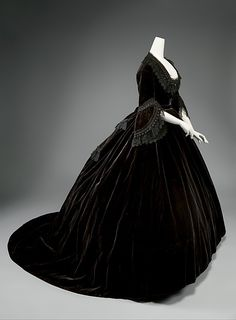 c.1861 Silk Velvet Dress | French | The Met I think the date is closer to 1869, definitely post 1865.