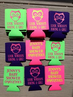 oh deer a sweet little boy is almost here baby shower koozies
