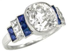 3.03ct Old Mine Brilliant Diamond Platinum Engagement Ring   New York Estate Jewelry   Israel Rose