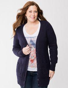 Tweed sweater coat | Lane Bryant