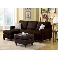 Vogue Microfiber Reversible Chaise Sectional Sofa, Multiple Colors - Walmart.com $340