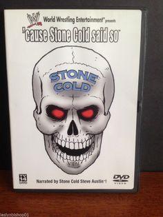 WWE - Stone Cold Says So (DVD, 2003) Video Cd, Stone Cold Steve, Steve Austin, Wwe, Wrestling, Entertaining, Running, Ebay, Fictional Characters
