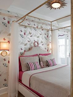 Pretty Wallpapered Bedroom | photo Emily Gilbert | via Stibling Private Brokerage | House & Home