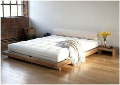 Kingsize Platform Bed Frame And Tatami Mats 1
